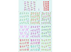 Наклейки цветные № BLE1456-1466, 11 штук на листе