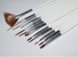 Набор кистей для Nail-дизайна #40, 12 шт.