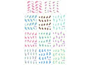 Наклейки цветные № BLE1203-1213, 11 штук на листе