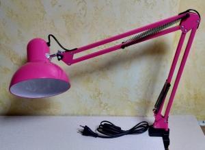 Настольная лампа для маникюра (розовая)