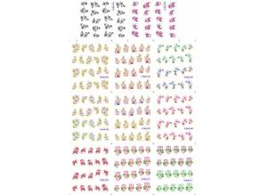 Наклейки цветные № BLE1401-1411, 11 штук на листе