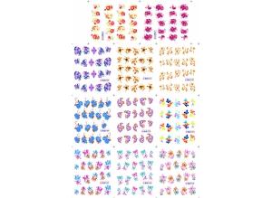 Наклейки цветные № BLE1544-1554, 11 штук на листе