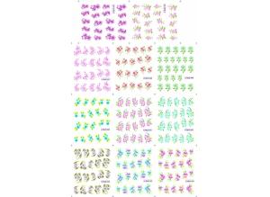 Наклейки цветные № BLE1445-1455, 11 штук на листе