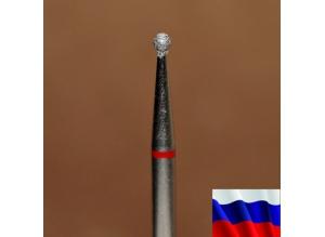 """Алмазная фреза """"ШАРИК"""" (красная), d=1,6 мм"""