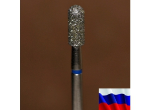 """Алмазная фреза """"ЦИЛИНДР закругленный"""" (синяя), d=3,3 мм"""