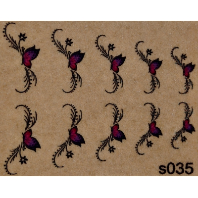 "Фотодизайн для ногтей ""Бабочки"", s035"