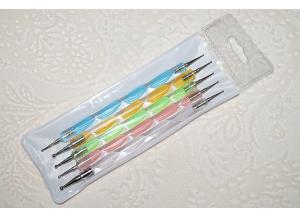 Набор дотсов (пластиковая ручка), 5 штук