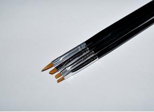 Набор кистей для геля и акрила NB18, 4 шт.