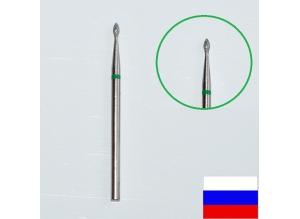 """Алмазная насадка """"КАПЛЯ"""", d=1,6 мм (зеленая)"""