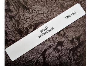 Пилка белая Kodi-Professional (прямоугольная), 120/150 грит