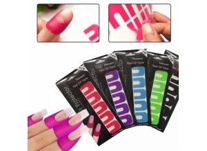 """Силиконовые накладки для защиты кутикулы и боковых валиков """"Nail Protector"""", 10 штук в наборе"""